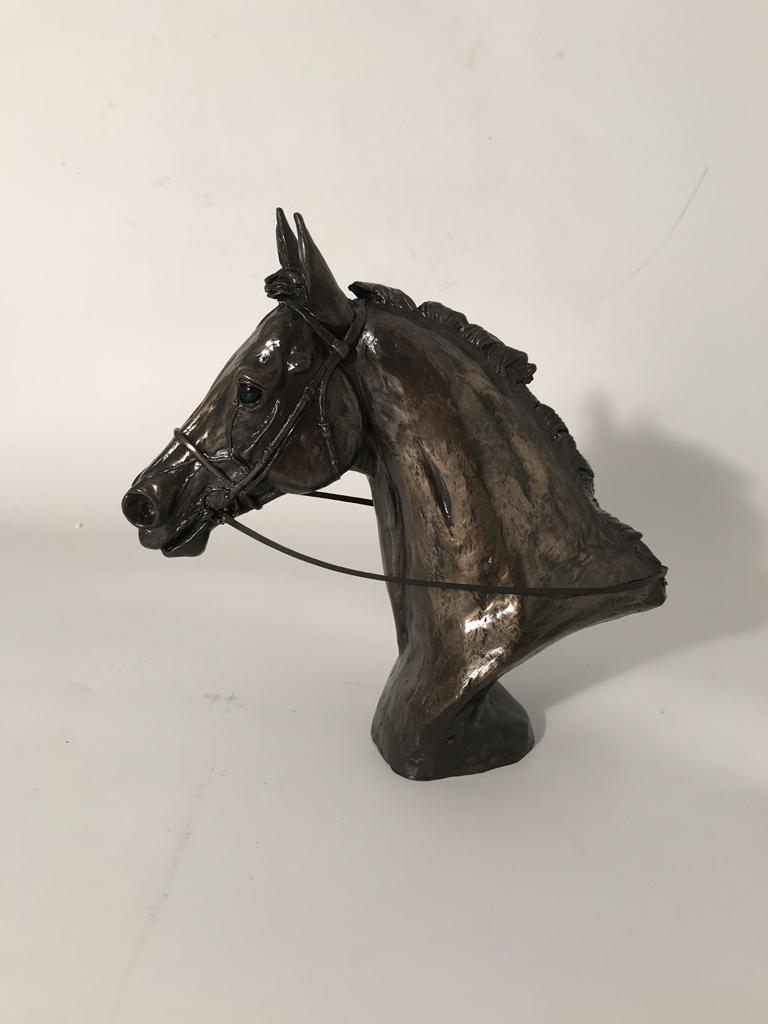 Sculptures Statues Bronze Horse Mare & Foal Signed Harriet Glen Equestrian